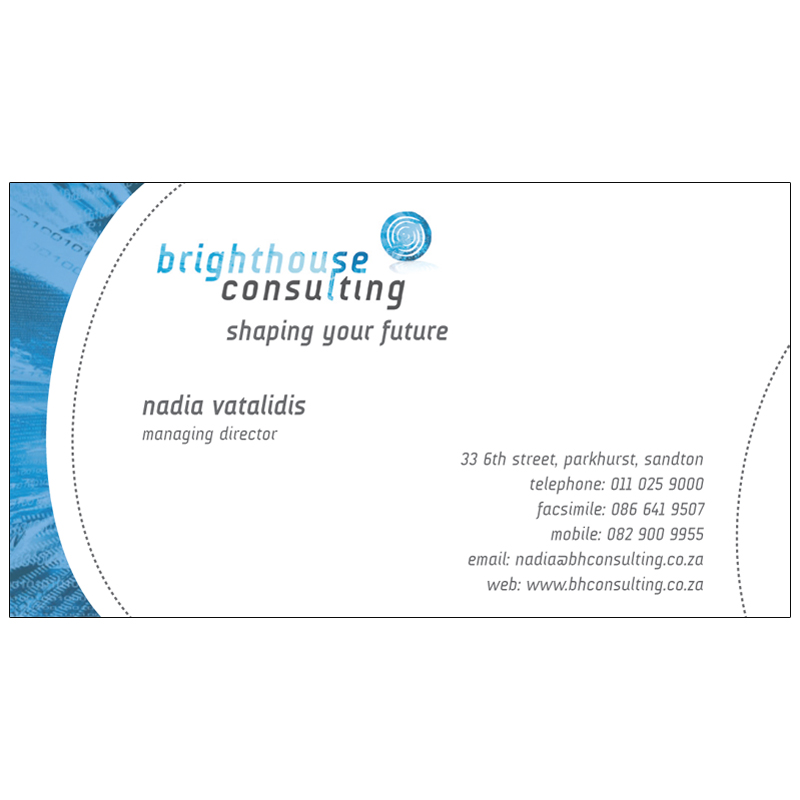 Brighthouse consulting business card design kangaroo for Design consultancy