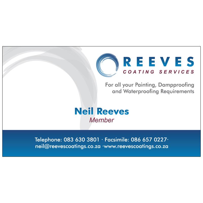 Reeves Coatings: Business Card Design | Kangaroo Digital