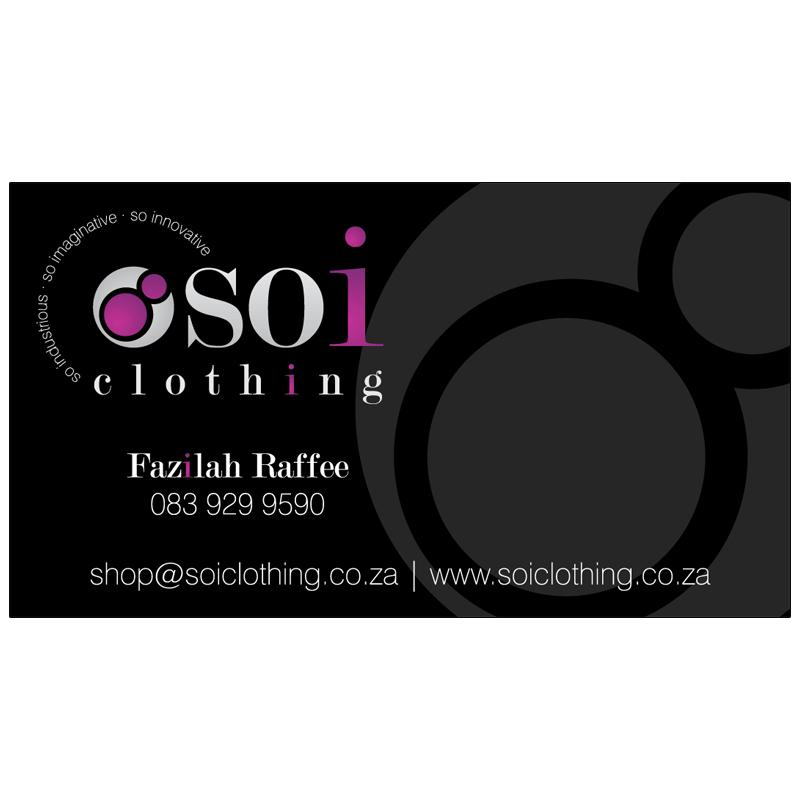 Soi Clothing: Business Card Design | Kangaroo Digital