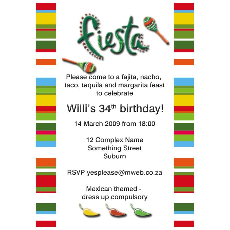 Invitation Mexican Fiesta Kangaroo Digital