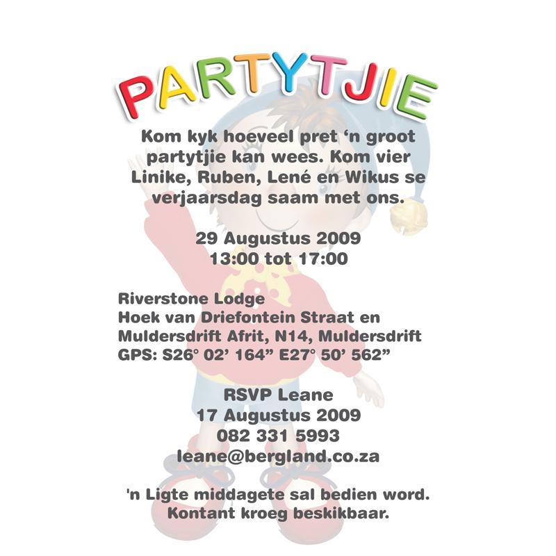 invitation linike birthday party noddy theme kangaroo digital
