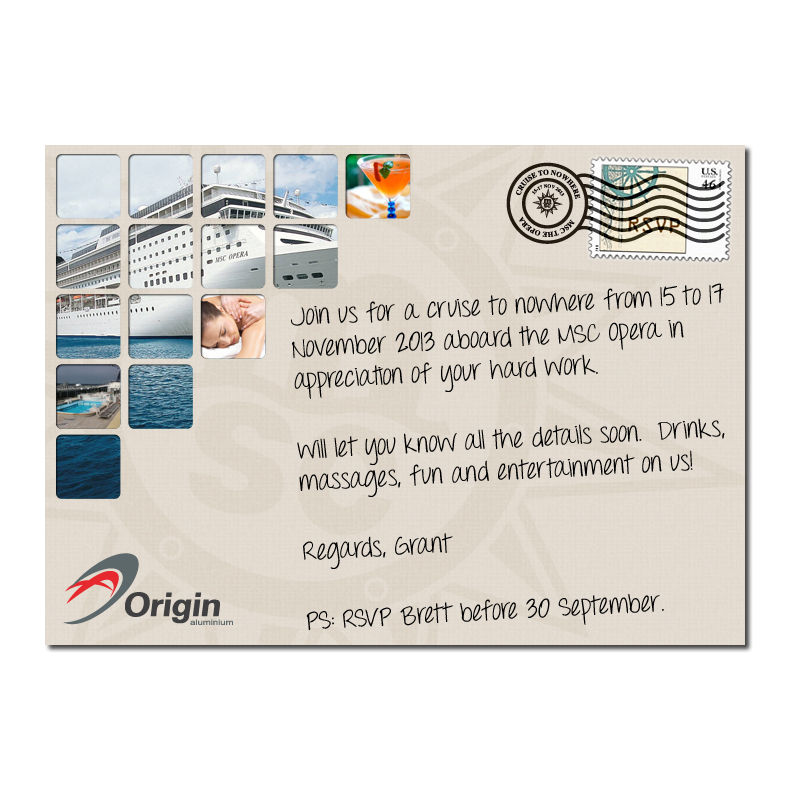 Invitation corporate year end function proposed kangaroo digital invitation origin cruise 01 stopboris Images