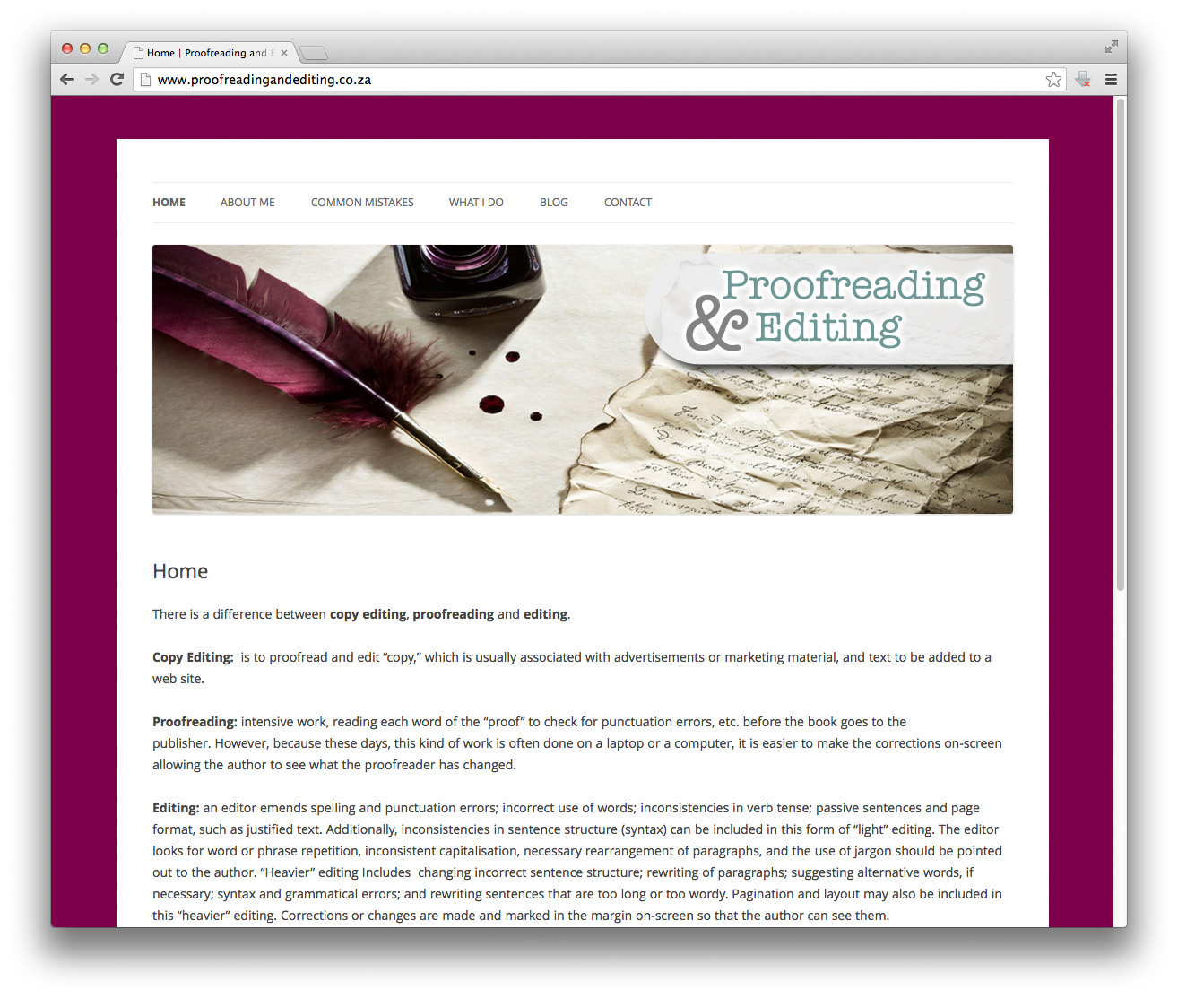 English In Italian: Website: Proofreading And Editing