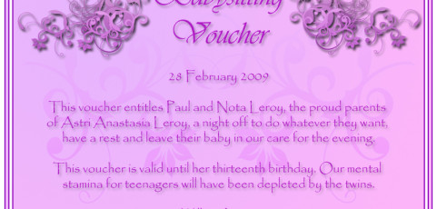 Babysitting Voucher