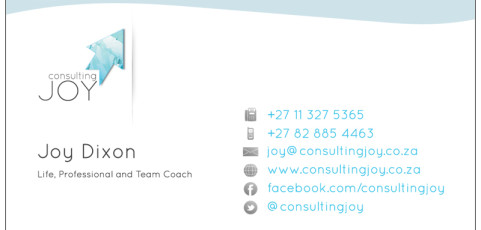 Consulting Joy: Business Card Design