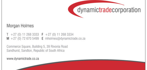 Dynamic Trade Corporatation: Business Card Design