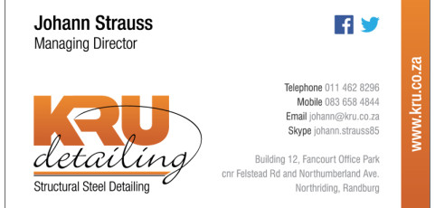 KRU Detailing: Business Card Design