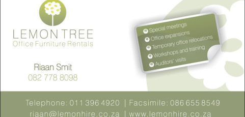 Lemon Tree Office Furniture Hire: Business Card