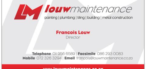 Louw Maintenance: Business Card Design