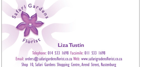 Safari Gardens Florist: Business Card Design