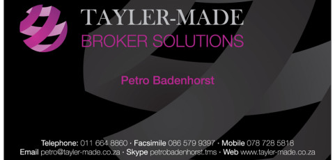 Tayler Made Broker Solutions: Business Card Design