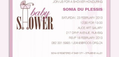 Invitation: Babyshower