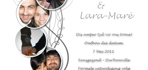 Save the Date: Charl and Lara-Maré's Wedding