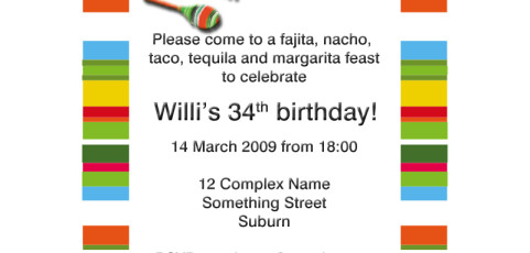 Invitation: Mexican Fiesta
