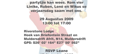 Invitation: Linike Birthday Party Noddy Theme