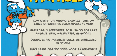 Invitation: Smurf Birthday Party