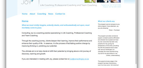Website: Consulting Joy