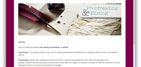 Website: Proofreading and Editing