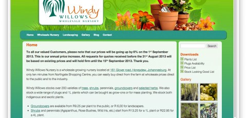 Website: Windy Willows Wholesale Nursery