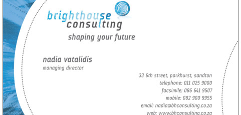 Brighthouse Consulting: Business Card Design